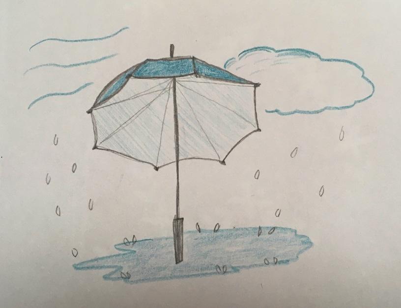 Dessin d'un dimanche pluvieux
